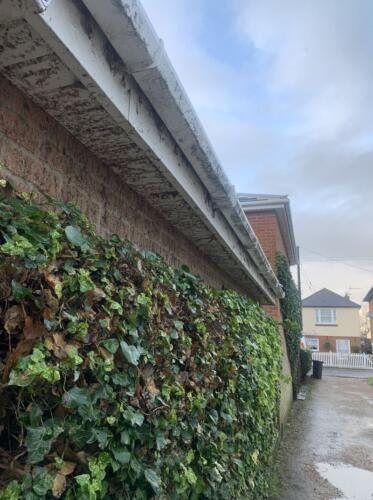 Cleaning uPVC Guttering Project - Hanson Roofing